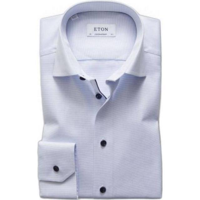 Eton Slim Fit Navy Details Royal Oxford Shirt - Sky Blue