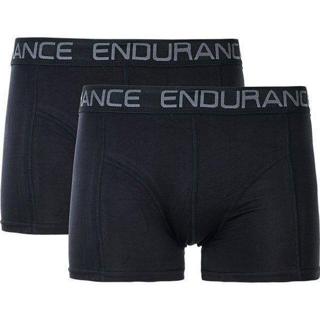 Endurance Brighton Bamboo Boxer Shorts 2-pack - Black