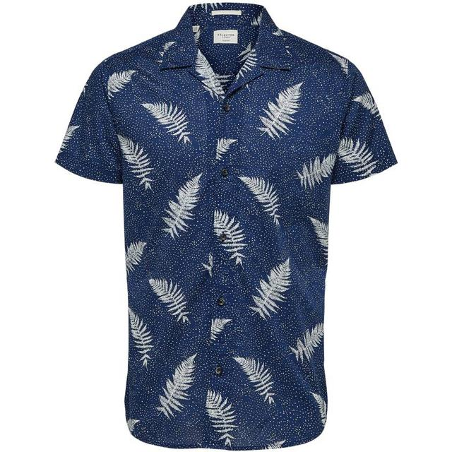 Selected Resort Short Sleeved Shirt - Blue/Dark Blue