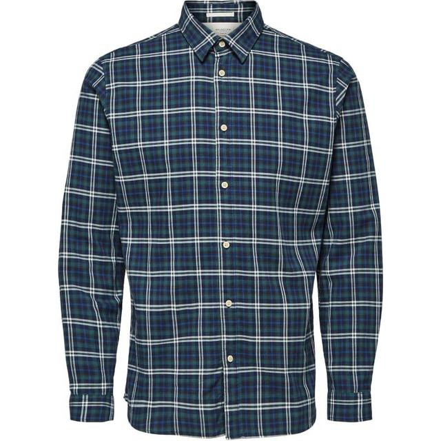 Selected Checked Shirt - Blue/Limoges