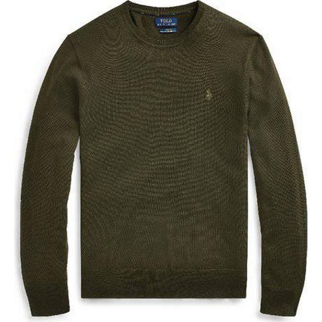 Polo Ralph Lauren Slim Washable Merino Jumper - Oil Cloth Green
