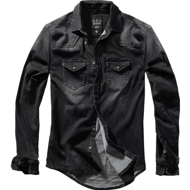 Brandit Riley Denim Shirt - Black