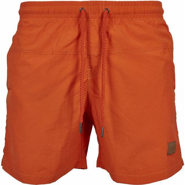 Urban Classics Block Swim Shorts - Rust Orange