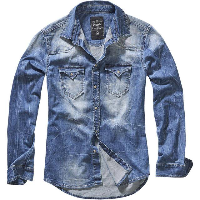Brandit Riley Denim Shirt - Denim Blue