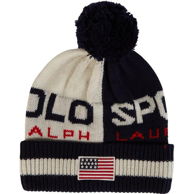 Polo Ralph Lauren Polo Sport Colour-Blocked Beanie - Cream/Navy
