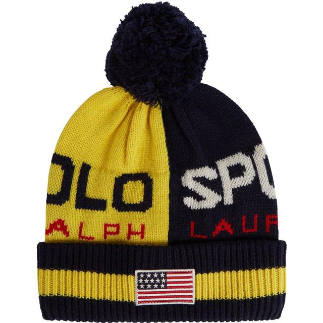 Polo Ralph Lauren Polo Sport Colour-Blocked Beanie - Yellow