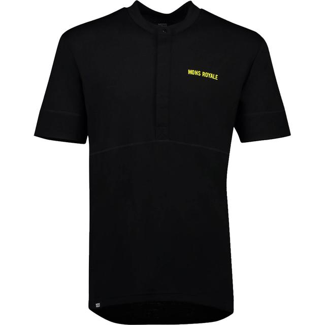 Mons Royale Cadence Button Down T-shirt - Black