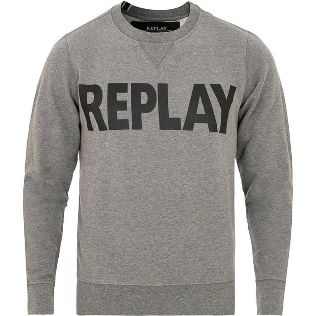 Replay Logo Sweatshirt - Melange Grey