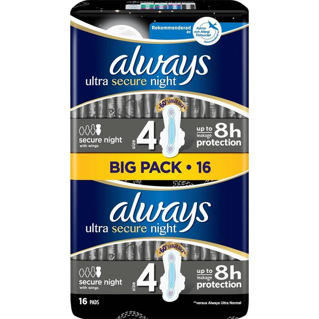 Always Ultra Secure Night 16-pack