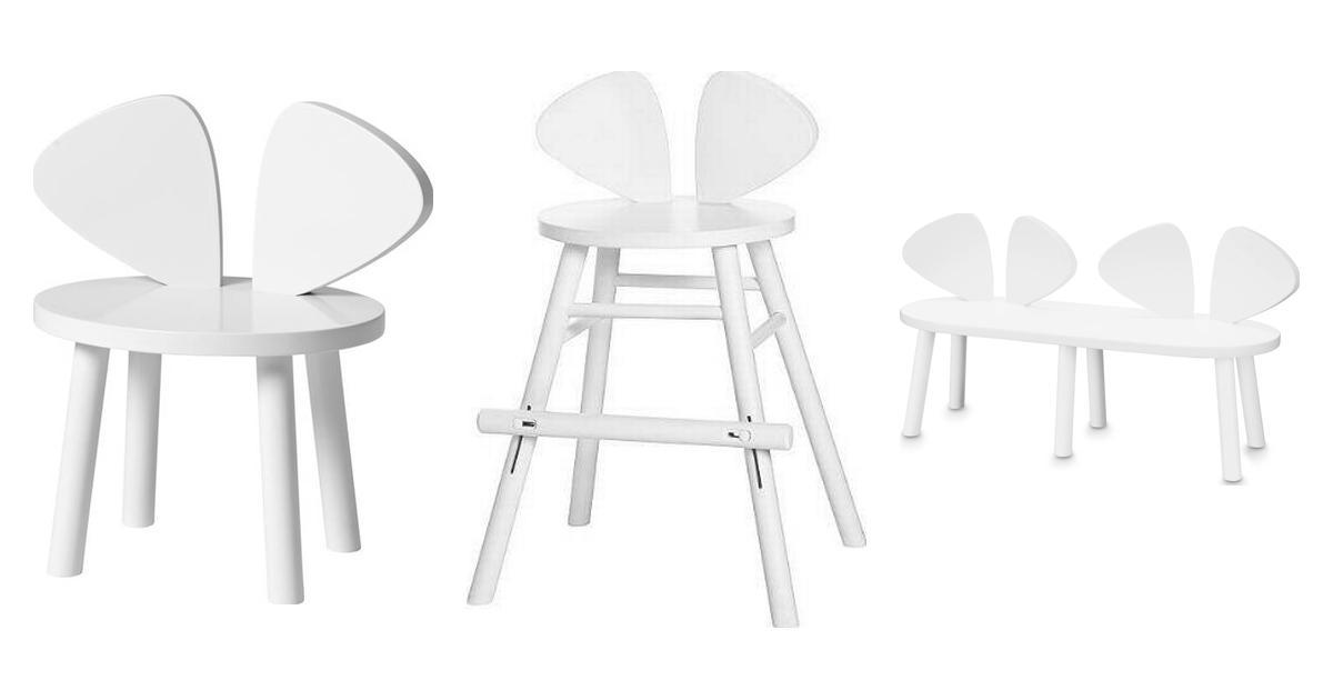 Mouse chair nofred oak Børneværelse • Find billigste pris